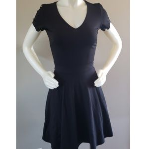 Short sleeve v-neck cocktail dress